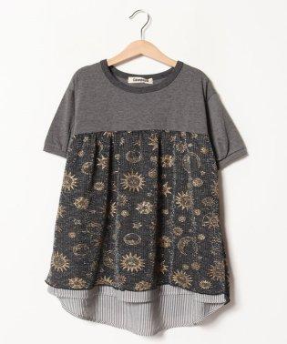 きらきら切替半袖Tシャツ(150cm)