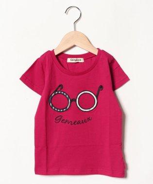 メガネアップリケ半袖Tシャツ