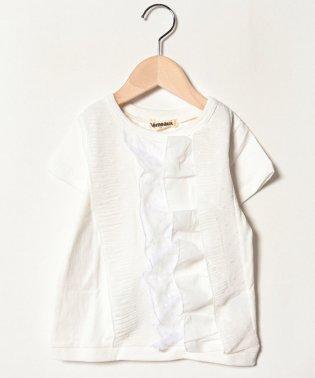 段フリル半袖Tシャツ