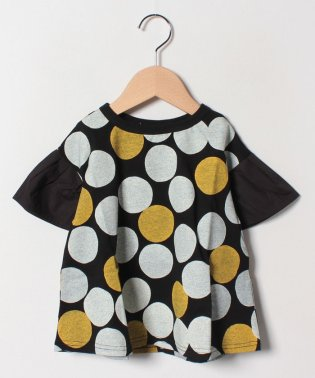 ドット柄ゆる半袖Tシャツ