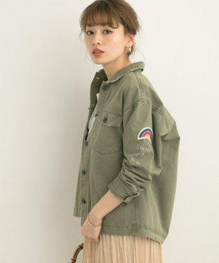 ピーチツイルミリタリーシャツジャケット