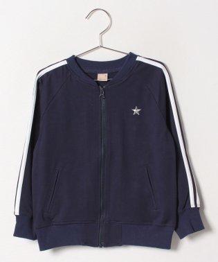 【セットアップ対応商品】星刺しゅう入りサイドラインジャージジャケット