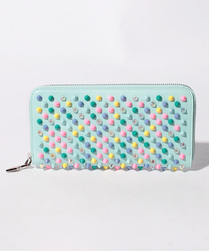 【Christian Louboutin】W  PANETTONE WALLET NV CALF P/SPIKES MIX