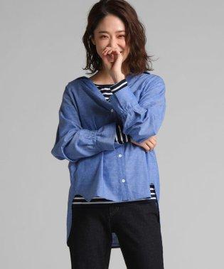 ロンT付ヌケ衿シャツ