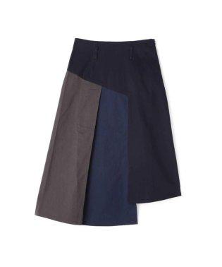 カラーブロックアシメトリースカート