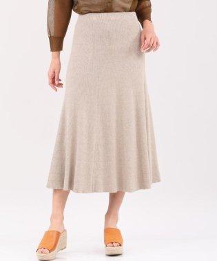 《セットアップ対応》フレアニットスカート