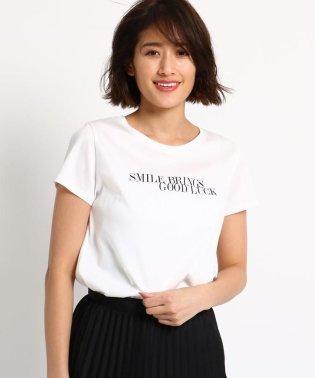 [S]【マシンウォッシュ】ロゴ半袖Tシャツ