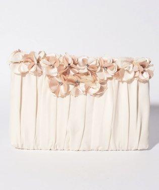 結婚式二次会お花モチーフ×シフォン素材のパーティークラッチバッグ