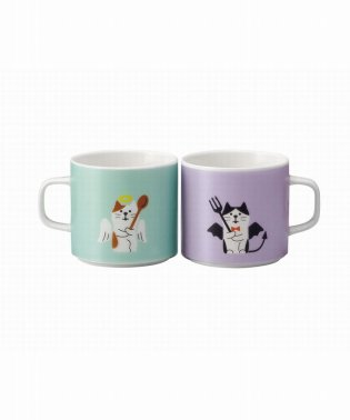 ペアマグカップ 猫天使と猫デビル