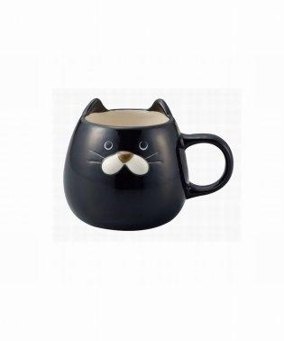 ぽってりねこマグ 黒猫