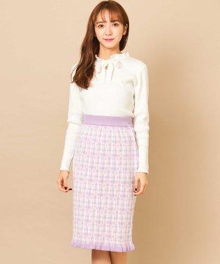 【Ray 4月号掲載】チェックフラワーニットスカート