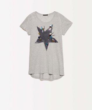 スパンコールバックギャザー半袖Tシャツ・カットソー