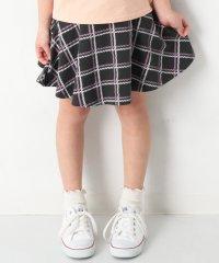 キッズ 子供服 ポケット付き 総柄1分丈スカッツ スカート 女の子