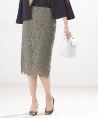 【steady. 5月号掲載】【Oggi 5月号掲載】Aperi/フラワーレースタイトスカート