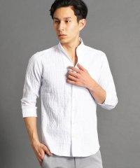 市松柄イタリアンカラー7分袖シャツ
