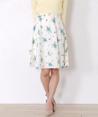 【TVドラマ着用】《プチサイズあり》花柄ボタンフレアスカート
