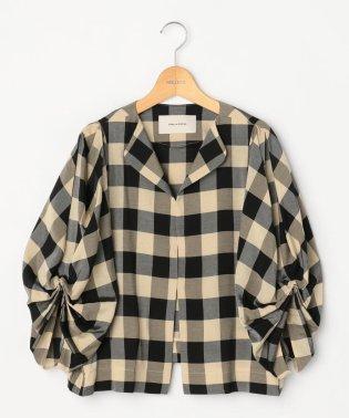 【STELLA CIFFON/ステラシフォン】ブロックチェックシャツジャケット