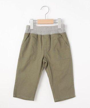 【160cmまで】ヘリンボーン7分丈パンツ