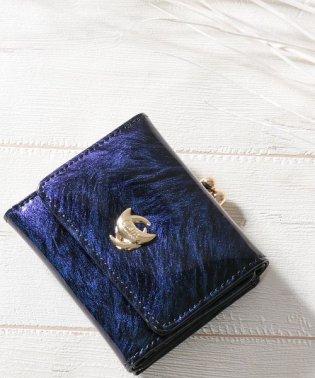 ミニ財布 財布 レディース エナメル がま口 極小財布 小さい財布 三つ折り コンパクトウォレット