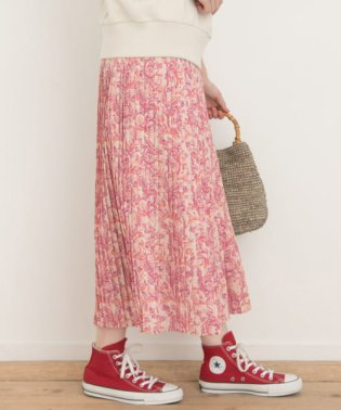 ペイズリー柄ロングプリーツスカート