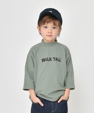 モックネックロゴ8分袖Tシャツ(80~150cm)