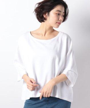 Uネックドルマン五分袖Tシャツ・カットソー
