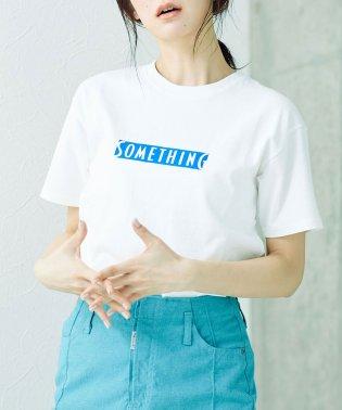 SOMETHING/ロゴTシャツ