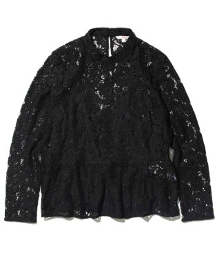 LEA LACE TOP CHANTILLY CAVIAR EMBROIDERY