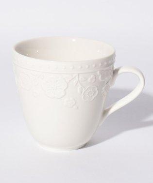 フラワーレリーフマグカップ
