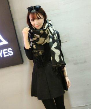 大判厚手マフラー あったかい かわいい 韓国 ファッション レディース 【A/W】【ra-2104】