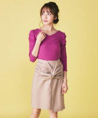 ねじりデザインタイトスカート