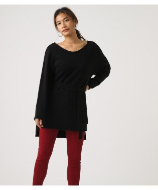 BELT SET V NECK KNIT TUNIC