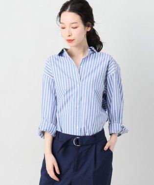 サキゾメストライプオーバーシャツ