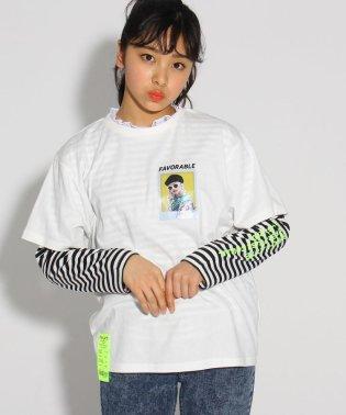 ★ニコラ掲載★シオリコラボ 転写プリント×レース TシャツSET