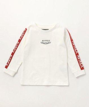 キッズ/裏毛 袖ラインTシャツ/KIDS LINED T-SHIRT/AVI005