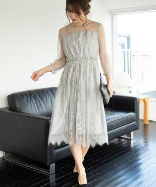 【WEDDINGS&PARTIES】ロングレースドレス