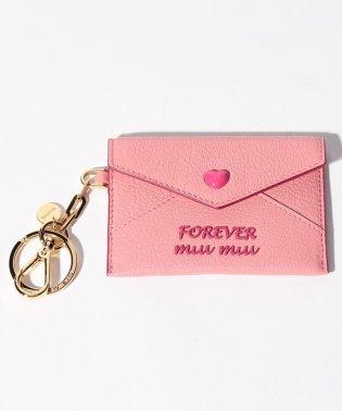 【MIUMIU】キーリング付きカードケース/MADRAS FOREVER【ROSA F】