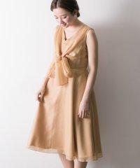 【UR】ボイルオーガンジーリボンドレス
