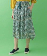 チェックステッチデザインスカート