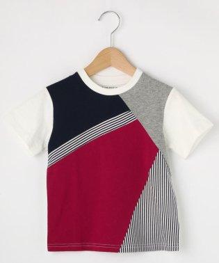 【100cm~150cm】【パパとおそろい】カラーブロックTシャツ