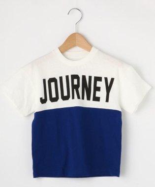 【100cm~150cm】配色ビッグロゴTシャツ