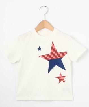 【100cm~150cm】星グラフィックTシャツ