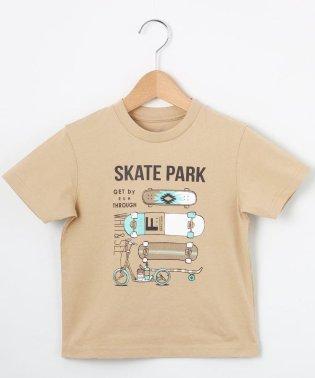 【100cm~150cm】スケボーグラフィックTシャツ
