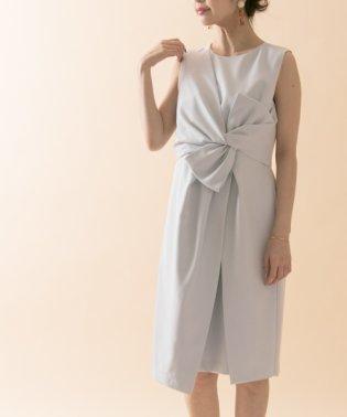 【UR】リボンタイトラップドレス