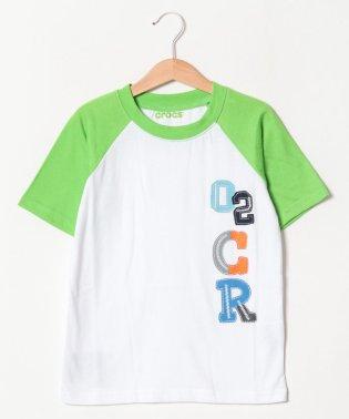CROCSアップリケプリント半袖Tシャツ
