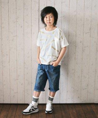 ハイストレッチ柄デニム(130~160cm)