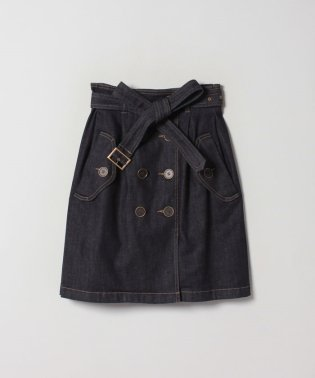 WG51 JUPE デニムトレンチスカート
