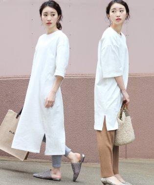 ◆サイズで変わる着丈2種類◆綿100%Tシャツワンピース