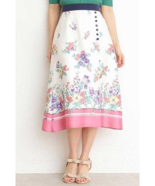 【美人百花5月号掲載】◆スカーフプリントミディスカート