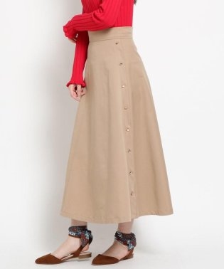 【洗える】【美人百花3月号掲載】ストレッチツイルAラインロングスカート
